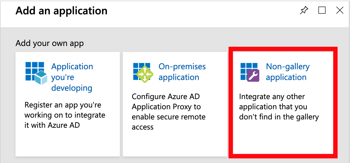 Azure Active Directory - Non Gallery Application